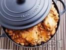 Рецепта Пилешко с боб в чугунен съд